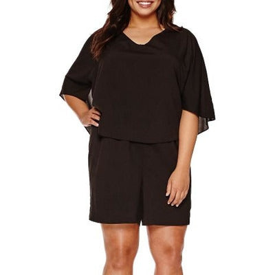 Bisou Bisou® Cape Romper One Piece - Plus - Must Have Shoes and More
