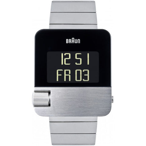 Braun Prestige Men's Bn10 Digital Watch In Stainless Steel - Must Have Shoes and More