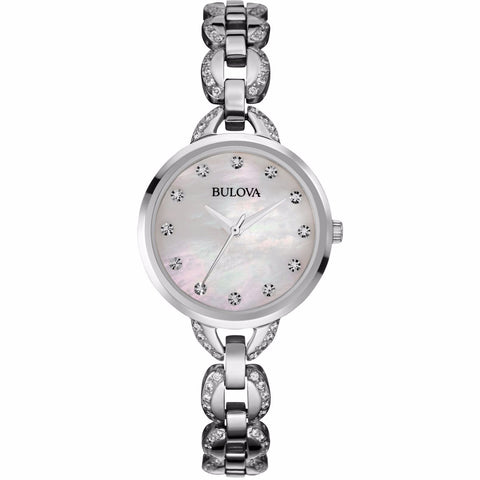 Bulova Women's Facets Crystal Accent Stainless Steel - Must Have Shoes and More