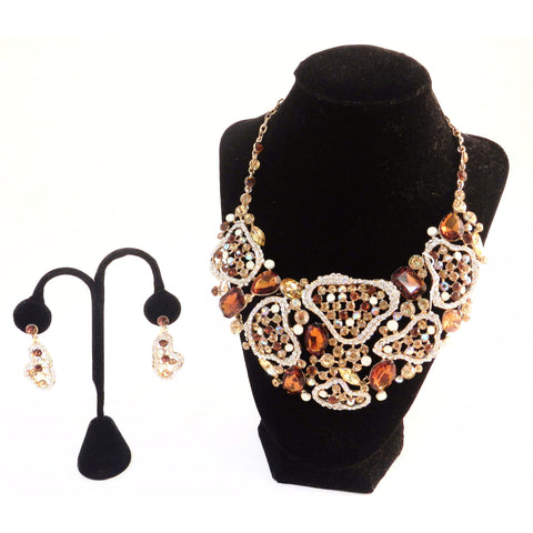 Rhinestone Necklace Set - Must Have Shoes and More
