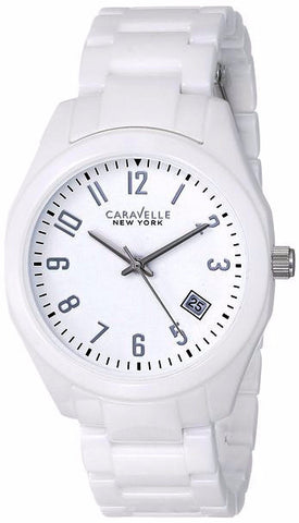 Caravelle New York Womens White Dial Watch - Must Have Shoes and More