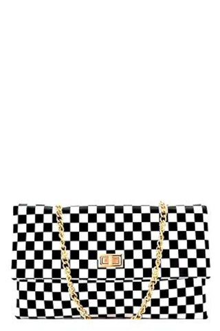 28e446c3ad5 Checkered Print Clutch Handbag - Must Have Shoes and More