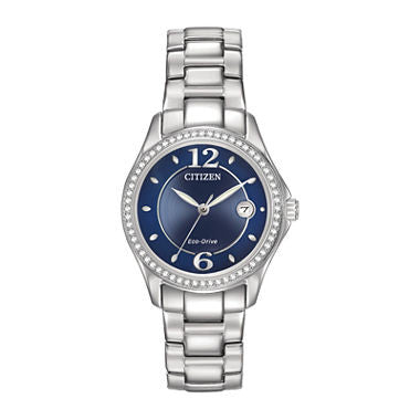 Citizen® Eco-Drive® Silhouette Womens Crystal-Accent Stainless Steel Watch - Must Have Shoes and More