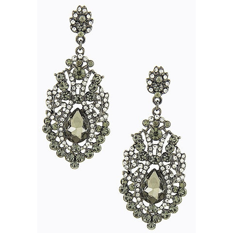 CRYSTAL ENCRUSTED BAROQUE EARRINGS - Must Have Shoes and More