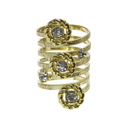 Crystal Textured Spiral Ring - Must Have Shoes and More