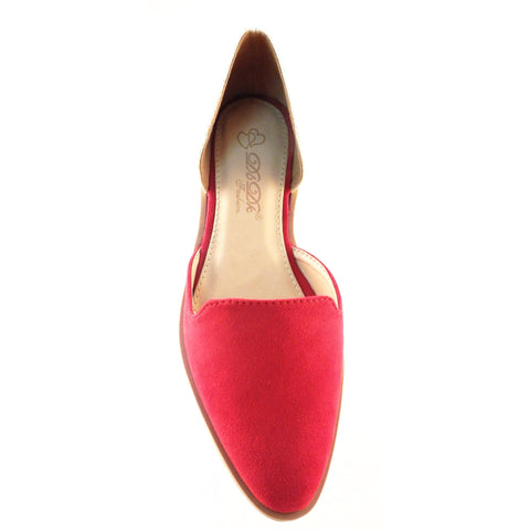 DBDK D'orsay Suede/perforations two tone flats - Must Have Shoes and More
