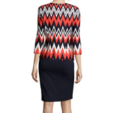 Danny & Nicole® 3/4-Sleeve Chevron Print Jacket Dress - Must Have Shoes and More
