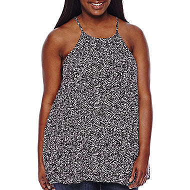 Decree® Strappy Woven Tank Top - Juniors Plus - Must Have Shoes and More