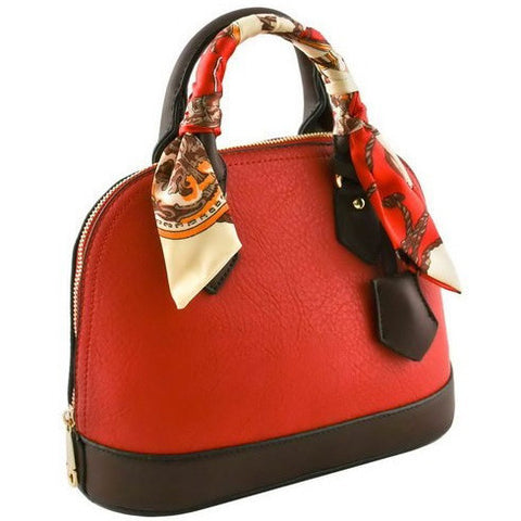 DESIGNER MINI TOP HANDLE BAG WITH SCARF - Must Have Shoes and More