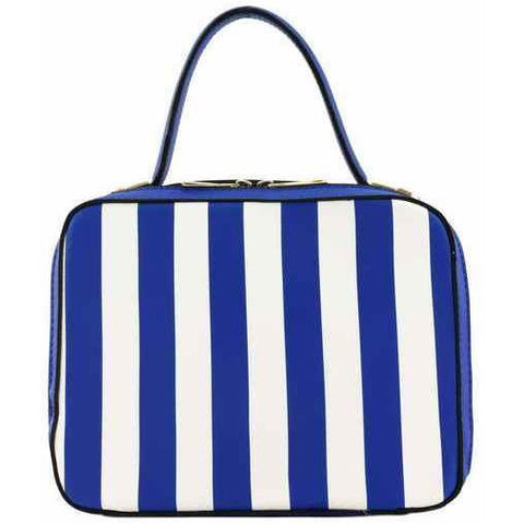 STRIPED MINI BOXY TOP HANDLE HANDBAG - Must Have Shoes and More