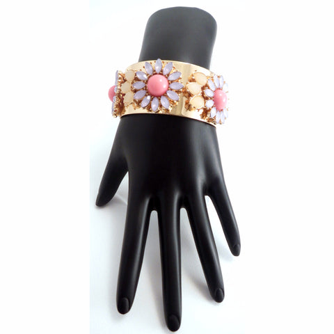 Cuff Gold Flower Bracelet - Must Have Shoes and More