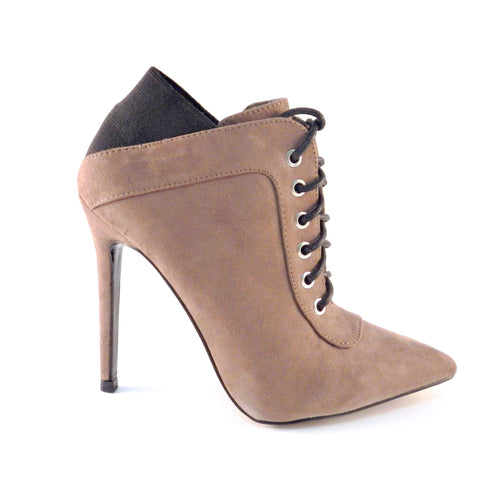 Shoe Republic La Lace Up Pointy Toe Bootie, Ankle Boots - Must Have Shoes and More