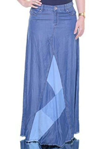 dea88e504c4 INC International Concepts Women s Denim Patchwork Maxi Skirt - Must Have  Shoes and More