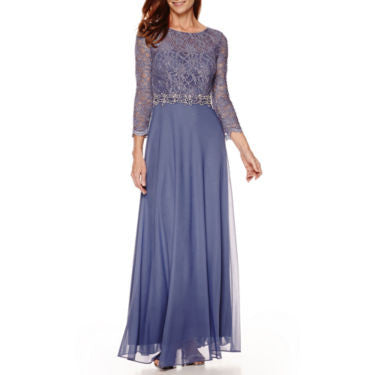 Jackie Jon Lace-Bodice Formal Gown - Must Have Shoes and More