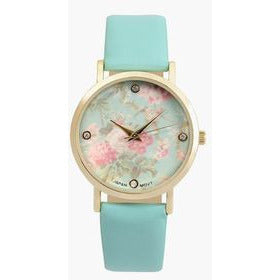 Journee Collection Womens Crystal-Accent Floral Dial Watch - Must Have Shoes and More