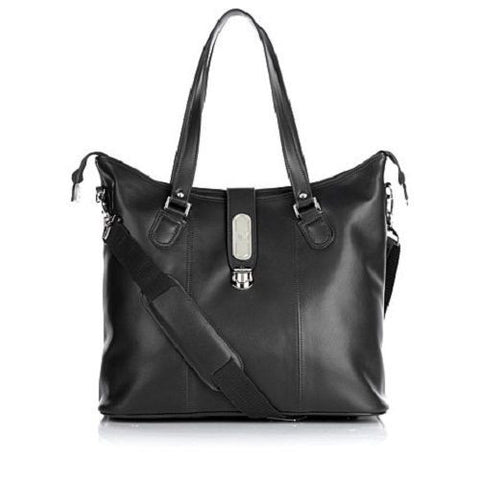 Joy Mangano Genuine Luxe Leather Zippered Everything Tote - Must Have Shoes and More