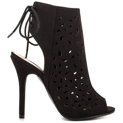 JustFab Thaden Black Women Heels - Must Have Shoes and More