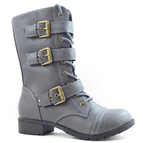 Kali Women's Triple Buckle/Lace Boots - Must Have Shoes and More