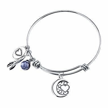 "Footnotes Too®""I Love You To The Moon and Back"" Bangle Bracelet - Must Have Shoes and More"