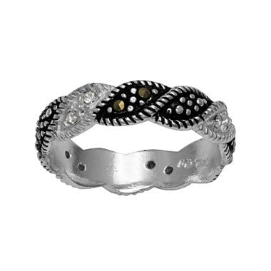 Marcasite and Crystal Band Ring - Must Have Shoes and More