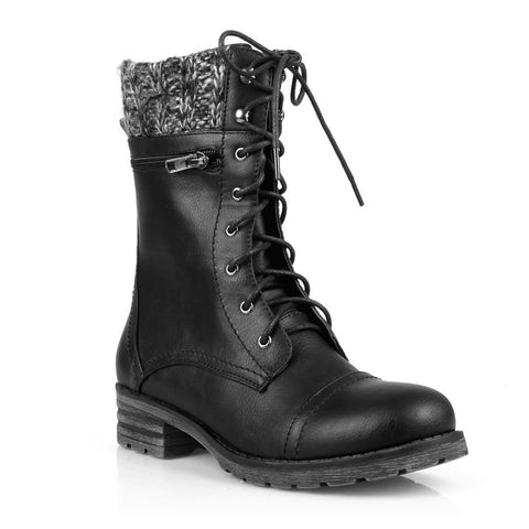 Mark and Maddux Lace-up Women's Mid-Calf Boots - Must Have Shoes and More