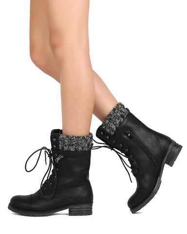 9b8361f5a29 Lace Up Mid Calf Boots - Must Have Shoes and More