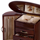 Mele & Co. Heloise Walnut-Finish Wooden Jewelry Box - Must Have Shoes and More
