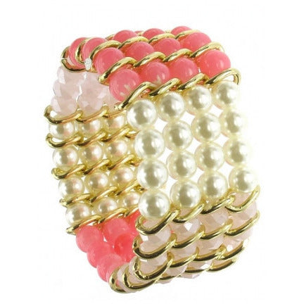 Multi Row Assorted Bead Bracelet - Must Have Shoes and More