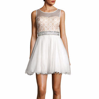 My Michelle® Sleeveless Illusion-Neck Party Dress - Must Have Shoes and More