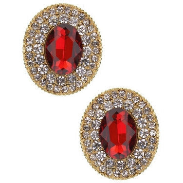 Oval Crystal Earrings - Must Have Shoes and More