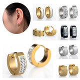 Yellow IP Stainless Steel Huggie 12.7mm Hoop Earrings - Must Have Shoes and More