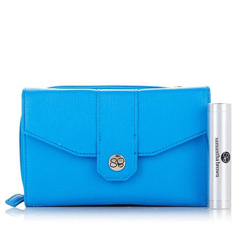 Samantha Brown Cross-Weave RFID Purse with Portable Charger - Must Have Shoes and More