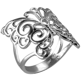 Silver-Plated Filigree Butterfly Ring - Must Have Shoes and More