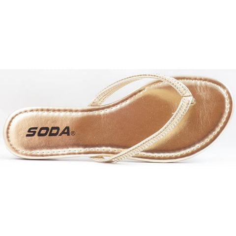 Soda Women's Embellished Flip Flops - Must Have Shoes and More