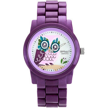 Sprout® Eco-Friendly Purple Owl Corn Resin Watch - Must Have Shoes and More