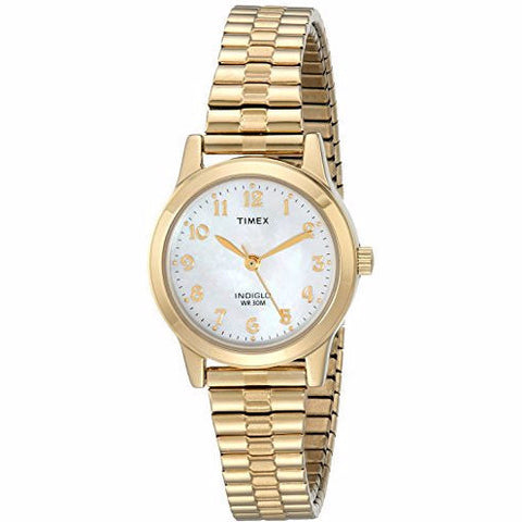 Timex® Elevated Classic Womens Gold-Tone Stainless Steel Expansion Watch - Must Have Shoes and More
