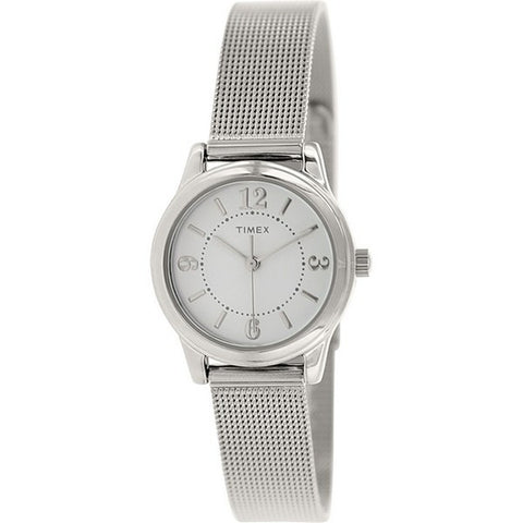 Timex® Womens Silver-Tone Stainless Steel Mini Modern Watch - Must Have Shoes and More