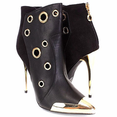 Wild Rose Black Wilson Pointy Toe Ankle Boots - Must Have Shoes and More