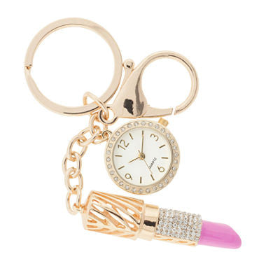 Womens Crystal-Accent Key Ring Clip Pendant Watch - Must Have Shoes and More