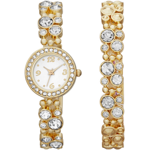Crystal-Bubble Watch and Bracelet Set - Must Have Shoes and More