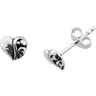 itsy bitsy™ Sterling Silver Heart Stud Earrings - Must Have Shoes and More