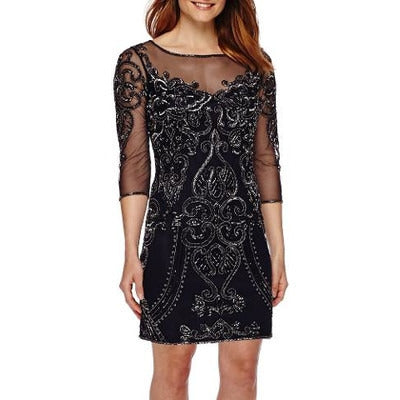 Prelude 3/4-Sleeve Beaded Shift Dress - Must Have Shoes and More