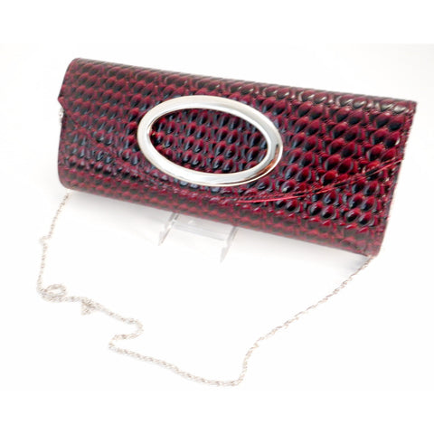 Crocodile Print Flap Over Clutch - Must Have Shoes and More