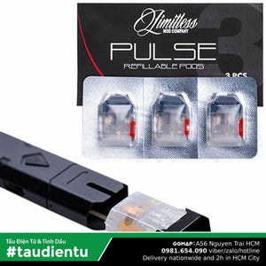 U Hút Pod Rng Thay Th Limitless Pulse Vape Refillable Replacement Empty Pod Salt Nic Vape