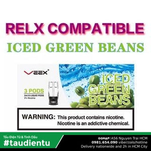 U Hút Tinh Du V Kem Xanh The Mát Tu Relx Veex Pod System Juice Eliquid Ice Green Beans Replacement