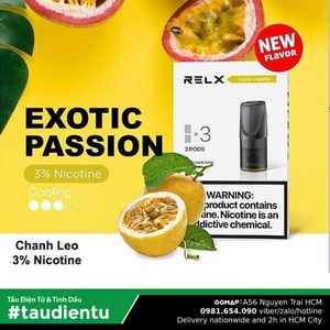 U Vape Tinh Du V Chanh Dây The Mát Tu Relx Pod System Exotic Passion Fruit Juice Eliquid Hút Salt
