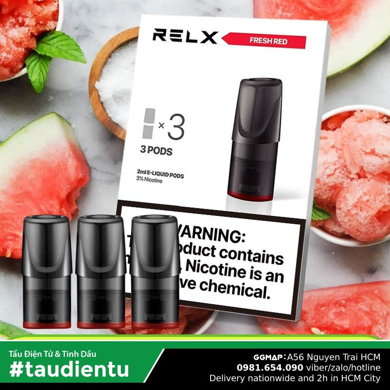 U Vape Tinh Du V Da Hu The Mát Tu Relx Pod System Juice Eliquid Hút Salt Nic 2Ml 3% 30Mg Replacement
