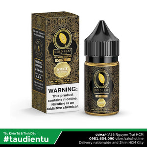 Tinh Du Tu V Thuc Lá Caramel Không The M Gold Leaf Usa Vape Juice G.m.t Tobacco No Ice Salt Nic 30