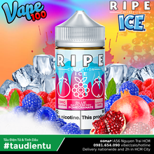 Tinh Du Vape M V Lu Và Qu Mng The Mát Vape100 Ripe Blue Razzleberry Juice Eliquid Ice Pomegranate