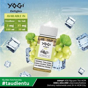 Tinh Du Vape M V Nho The Mát Chua Ngt Yogi Delight Ice Grape Juice E-Liquid Hút Tu Freebase 3 100Ml